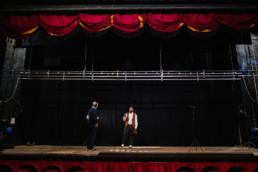 BTS behind-the-scenes exhibition tap dancer