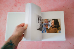 family photos printed in book