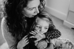 mum with toddler daughter at home