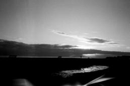 sunset low tide beach worthing on film