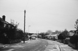 film photography black and white in winter worthing