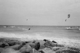 analogue photography lancing windsurfers
