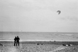 lancing windy surfer film photography