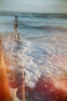 accidental double exposure on the beach