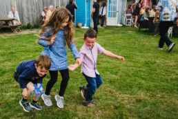 10 kids playing at birthday party