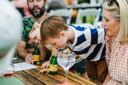14 kids drinking with straws